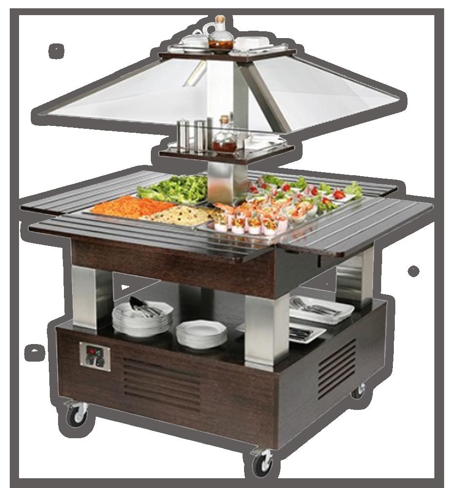 koelvitrine buffetbar saladebar