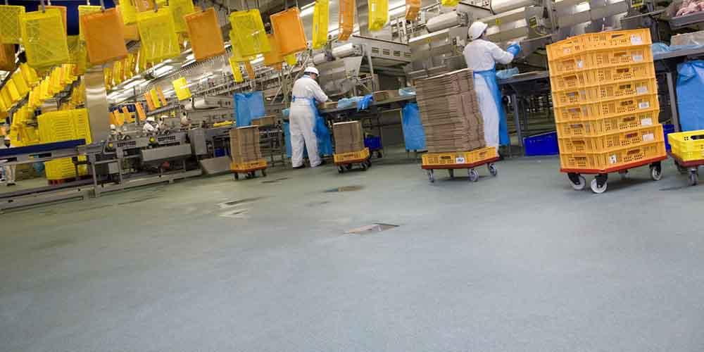 vloer voor foodindustrie en vleesverwerking